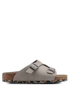 97292431703 Birkenstock grey Zurich Desert Soil Camou Soft Footbed Sandals  B4DBDSH880129BGS 1