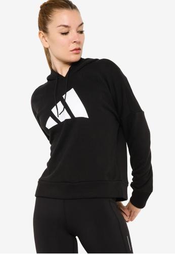 ADIDAS black adidas sportswear future icons hoodie D75F2AA9734F4DGS_1