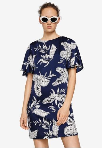 Mango blue Flowy Printed Dress DF5BCAA23DC28AGS_1