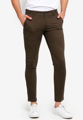 High Cultured 褐色 Long Pants - 121 9EBD4AA1D492D6GS_1