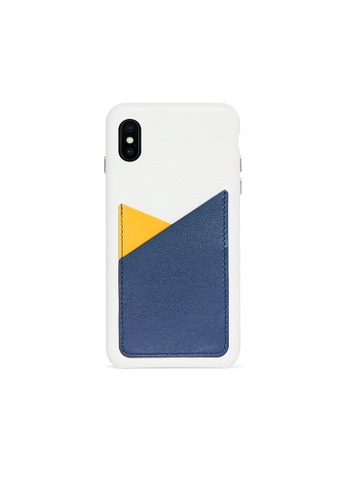 OBX blue Lavender iPhone Xs Max Patchwork Leather Snap-On case CBD61AC2C16FCAGS_1