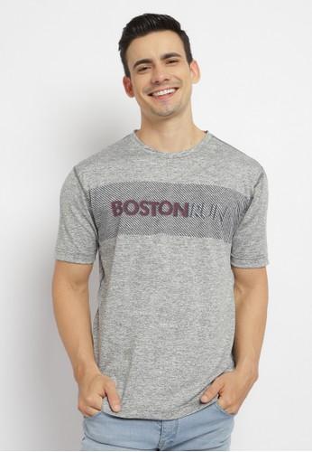 Poshboy grey Poshboy Beaufort Boston Run T-Shirt Grey 001AAAA4DF513CGS_1