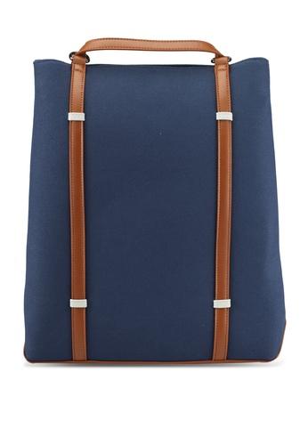 ZALORA navy Contemporary Canvas Backpack 64336AC6B5C7EBGS_1