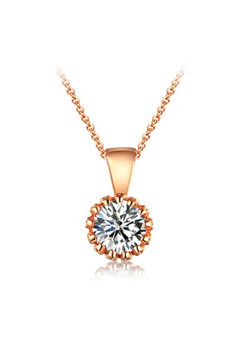 Kings Collection gold Rose Gold Crystal Necklace DD277AC84169B6GS_1
