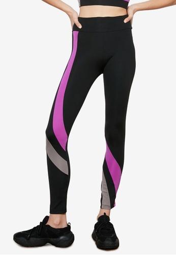 Trendyol black Colorblock Sports Leggings FE1E8AAEF8A601GS_1