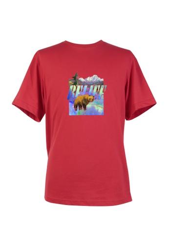 BSX red BSX Unisex's regular fit printed logo tee (Online exclusive) - (Batik art) (0409029833) 4F69EAA0548903GS_1