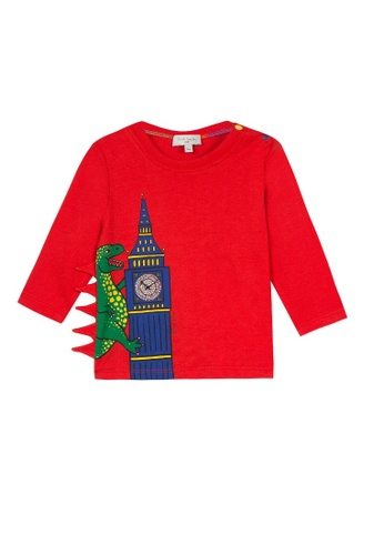 PAUL SMITH JUNIOR red PAUL SMITH JUNIOR BABY BOYS T-SHIRT B68BBKAB928541GS_1