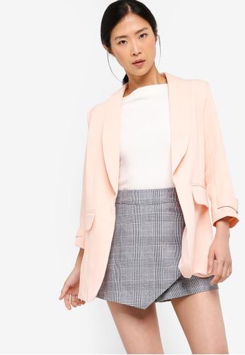 ZALORA BASICS pink Basic Longline Blazer 703D0AA7F879E2GS_1