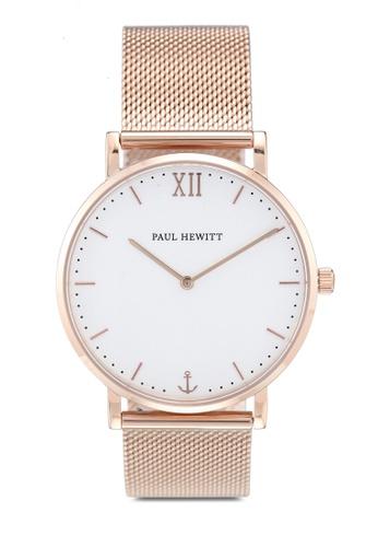 Paul Hewitt gold Sailor Line White Sand IP Watch E05EAAC42D96B5GS_1