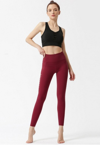 B-Code red ZYG3054-Lady Quick Drying Running Fitness Yoga Sports Leggings -Red 2A263AA88B76CFGS_1