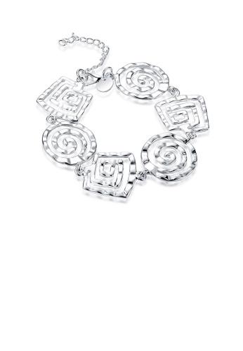 Glamorousky silver Simple Geometric Thread Bracelet 2694CAC48CFE2BGS_1