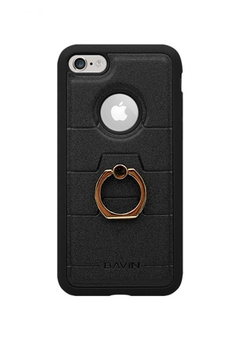 BAVIN black Mobile Leather Cover with Ring Holder Stand for for iPhone7 18E2FAC7EA511CGS_1