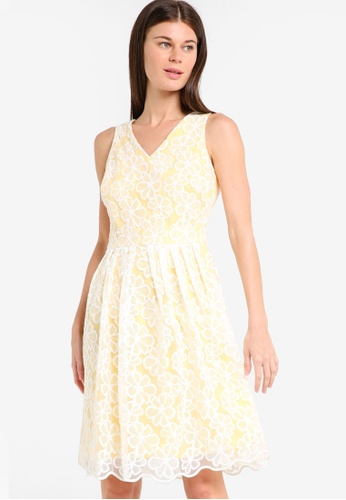5a27cff76a289 Buy Dorothy Perkins Petite Yellow Daisy Prom Dress Online on ZALORA ...