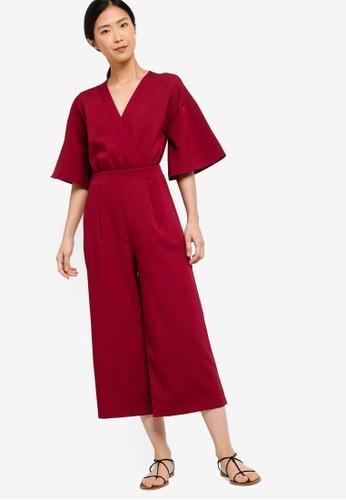 ZALORA BASICS red Basic Kimono Jumpsuit 92C71AA07A1FBBGS_1