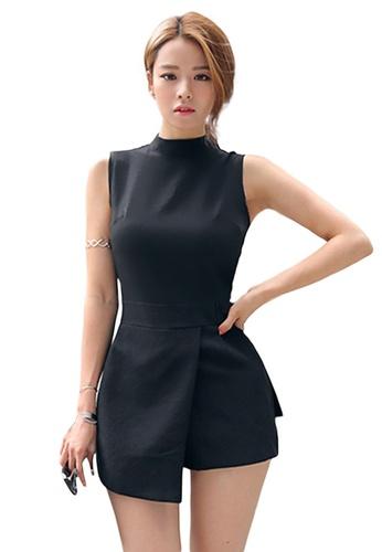 Sunnydaysweety black Korean Style Irregular Playsuit A21031926 2B30CAA8814371GS_1
