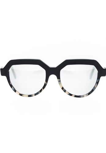 Quattrocento Eyewear Quattrocento Eyewear Mod. Twiggy round with Acetate of Cellulose Frame and CR 39 gold Black Lenses B2B13GLC112461GS_1