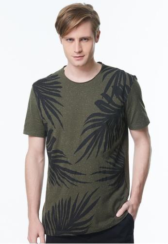 Sisley green Printed T-shirt A8A1DAA90268AAGS_1