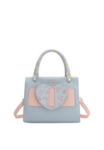 PLAYBOY BUNNY blue Women's Hand Bag / Top Handle Bag / Shoulder Bag C75E7AC37B7A23GS_1