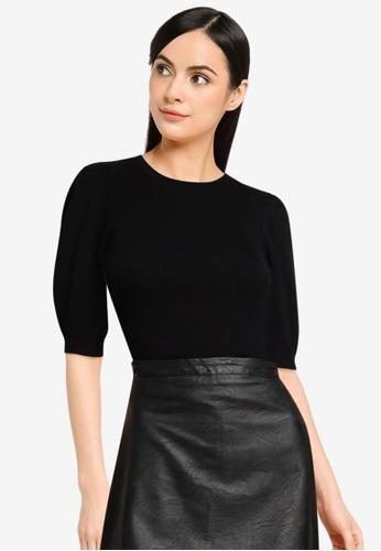JACQUELINE DE YONG black Kady Short Sleeve Pullover 81DE5AA67347F1GS_1