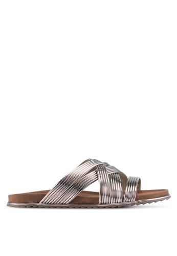 Something Borrowed silver Metallic Detail Sandals FF1E2SH2FF81F7GS_1