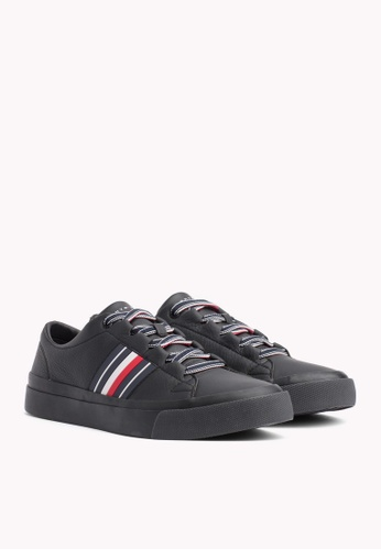 Tommy Hilfiger black CORPORATE LEATHER LOW SNEAKER 00892SH64EA2F5GS_1