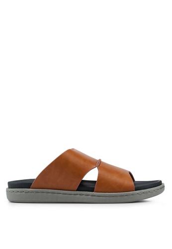 Bata brown Slip On Sandals 34154SHFB3CD4BGS_1
