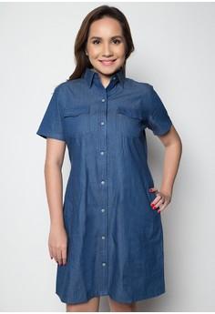 Plus Size Soft Denim Dress