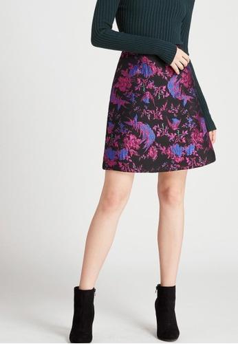 Storets black Amber Jacquard Floral Skirt ST450AA0G7UKSG_1