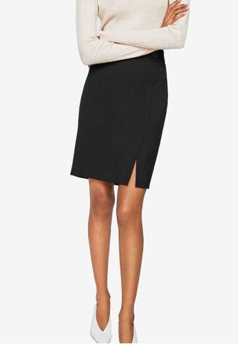 Mango black Buttoned Midi Skirt DCDA6AA99E8F12GS_1