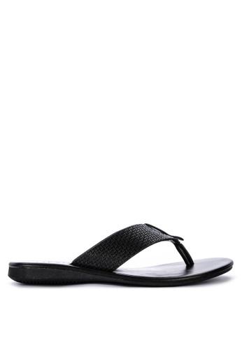 Alberto black Thong Sandals A7364SH4CBCEC9GS_1