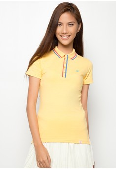 Slim Fit Polo Tee with Tipping