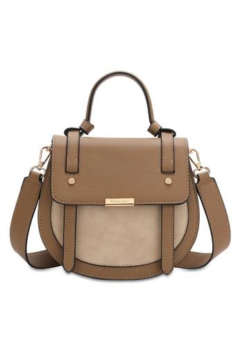 Volkswagen beige Faux Leather Top Handle Sling Bag 7AAC6AC587364EGS_1
