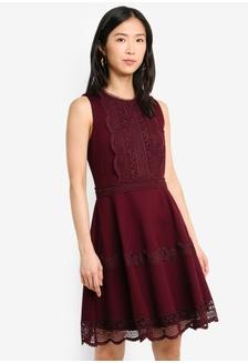 2557b9ca711 Tara Ponte Spliced Lace Dress 0B0D2AA7A028FCGS 1 Forever New ...