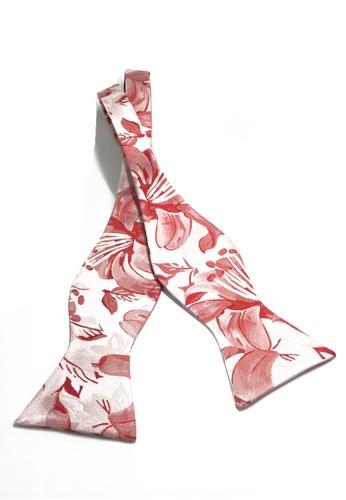 Splice Cufflinks Manual Series Pink Patterned Self-tied Man Made Silk Bow Tie SP744AC79LBGSG_1