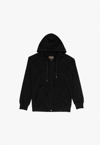 FOREST black Forest Stretchable Sweatshirt Cotton Terry Hoodie Men Jacket - Jaket Lelaki - 30398 - 01Black 82DD9AA47BBD1FGS_1