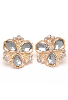 Jewel 18k plated Flower Earrings