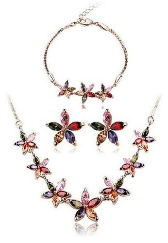 Vivere Rosse multi Summer Flowers Jewelry Set VI014AC23DVKMY_1