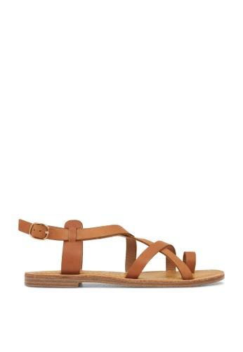 ROC Boots Australia brown Roman Tan Sandal RO289SH31BQMSG_1