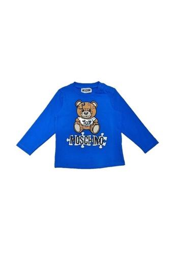 MOSCHINO BABY KID TEEN blue MOSCHINO BABY LONG SLEEVE T-SHIRT A2ED5KA2CFBD3BGS_1