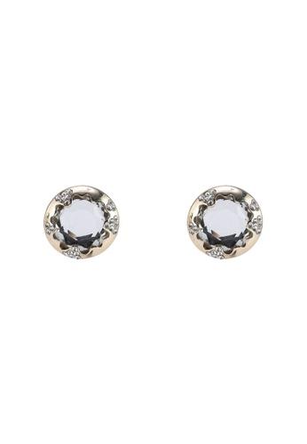River Island gold Diamante Mirror Stud Earrings BD2C6AC098DF7EGS_1