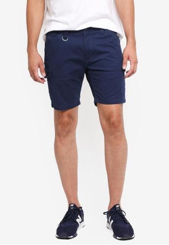 Sparrow Green 海軍藍色 休閒素色短褲 56902AA9FEA747GS_1