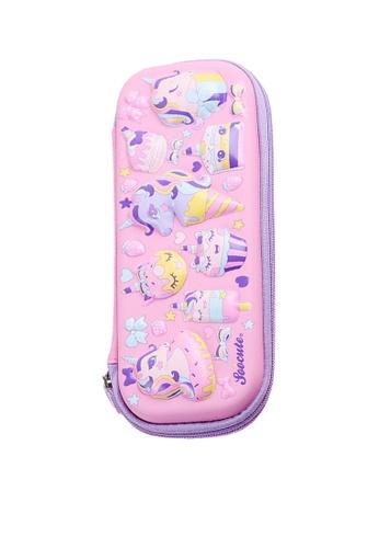 Twenty Eight Shoes pink VANSA 3D Cartoon Pencil Case  VAK-A99887 27AD0KCD9FF055GS_1