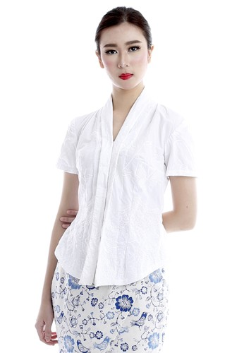 DhieVine Batik black and multi Teratai Putih Kebaya 9CD67AAA44C557GS_1