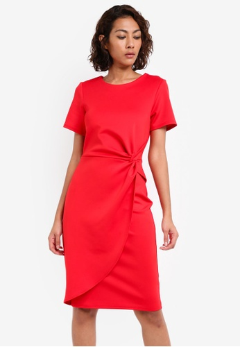 Dorothy Perkins red Cny: Red Knot Front Pencil DO816AA0SKRSMY_1