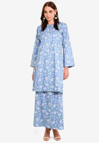 Butik Sireh Pinang blue Nadeera Kurung Pahang 633C2AA75F1DBCGS_1