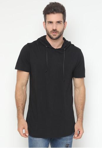 JOULDAS black Jouldas Black Hoodie T-Shirt Short Sleeve 0839AAACF6FECEGS_1