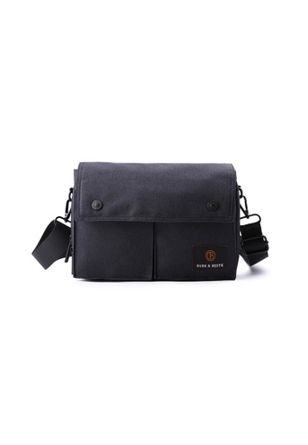 The Dude black Wander Sling Bag TH373AC67RFCHK_1