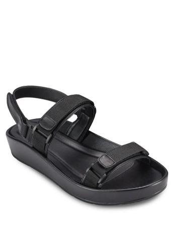 魔術氈多esprit hk store帶運動風涼鞋, 女鞋, 鞋