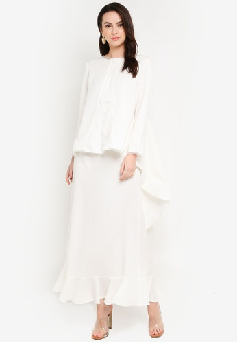 Laura Kurung Ivory from GHAANIA in White