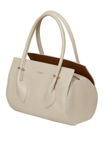 ESEMBLE white and beige Cody Carryall - Almond/Caramel 8AC35AC56EEE8DGS_1